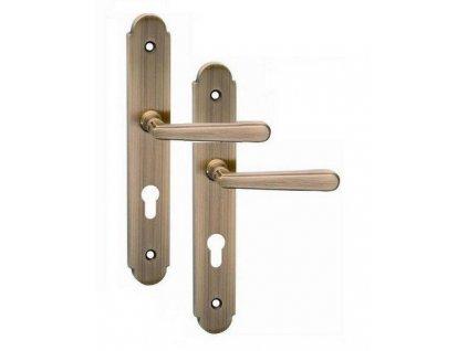 Bezpečnostní kování pro vchodové dveře ALT - WIEN OFS klika/klika