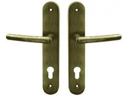 Bezpečnostní kování Cobra bronz česaný SVEVA