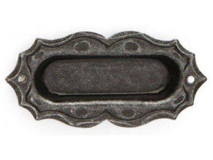 Dveřní madlo na posuvné dveře mušle oválná