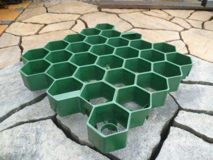 Zatravňovací dlažba plastová zelená 33,8x33,5x7,5cm EXTRA STRONG