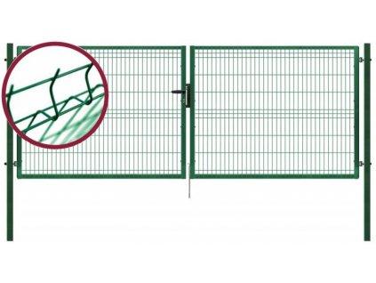 Dvoukřídlá zahradní brána PILOFOR Pilecký 4118 x 1045 mm FAB