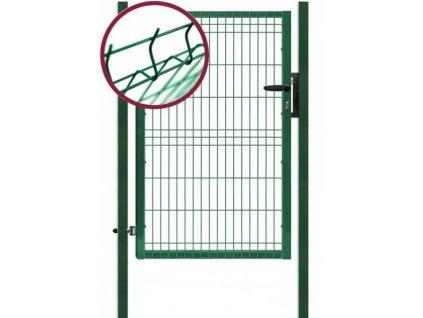 Jednokřídlá plotová branka PILOFOR zelená 1094 x 1045 mm FAB