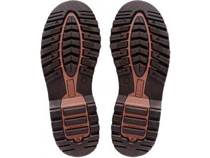 Pracovní kožené kotníkové boty bez ocelové špičky ROAD GRAND hnědé