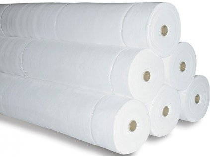 Geotextilie netkaná GeoNETEX polyester bílý 300 g JUTA 2 x 50 m