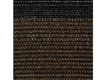 Stínící tkanina na plot 84% síťka 1 x 50 m SOLEADO hnědá