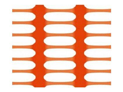 Bezpečnostní síť vyznačovací oranžová 1 x 50 m DRAGON (250g/m2)