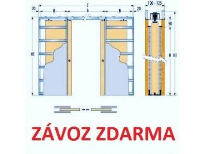 Stavební pouzdro ECLISSE 700+700 mm do sádrokartonu ZDARMA DOPRAVA
