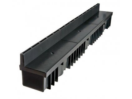 Odvodňovací žlaby plastový štěrbinový PVC kryt 1,5t (1000 x 130 x 105 mm)