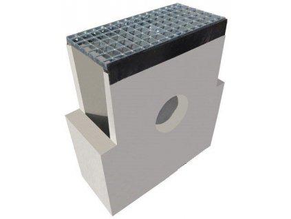 Sběrná vpusť žlab BETON 200 standard rošt pozink 1,5t (620 x 250 x 700 mm)