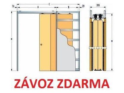 Eclisse pouzdro stavební TELESKOP 1000+1000mm do sádrokartonu