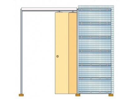 Stavební pouzdro TELESKOP 600+600mm do zdiva Eclisse