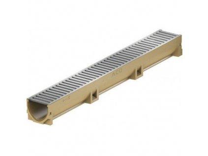 Odvodňovací žlab polymerbetonový - pozinkovaná mříž 1 m ACO EuroSelf