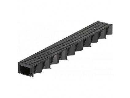 Odvodňovací žlab plastový - plastová mříž 1 m ACO HexaSelf