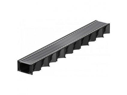 Odvodňovací žlab plastový - pozinkovaná mříž 1 m ACO HexaSelf