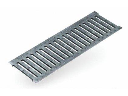 Krycí rošt pro odvodňovací žlaby N100 - 1,5 t mříž pozinkovaná 1 m ACO