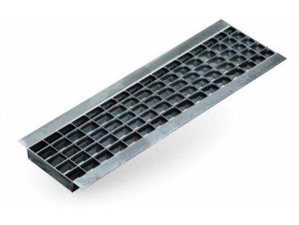 Krycí rošt mřížkový pro odvodňovací žlaby N100 - 12,5 t mříž pozinkovaná 1 m ACO