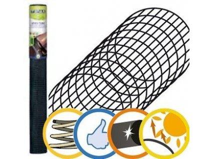 Ochrana žlabů LEVEX TUBE plastová mříž - 1 m