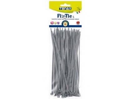 Stahovací pásky vázací ŠEDÉ 100 mm (50 ks/bal)