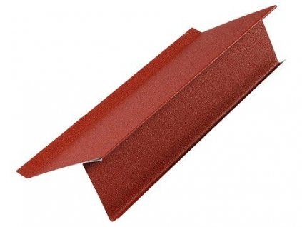 Spodní lemování štítu - plechová krytina Blachotrapez PLADUR lesklá