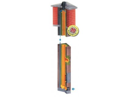 Komín Rohr-Kamin jednoprůduchový IRK 7 m - Ø 160 mm /90°