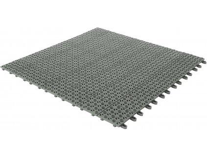 Plastová dlažba šedá 55 x 55 x 1 cm podlahová krytina Multiplate