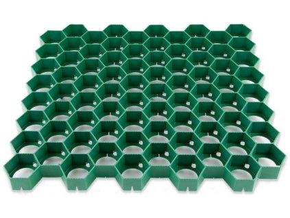 Plastová dlažba 56 x 60 x 4 cm PRATEX 300 t zatravňovací tvárnice