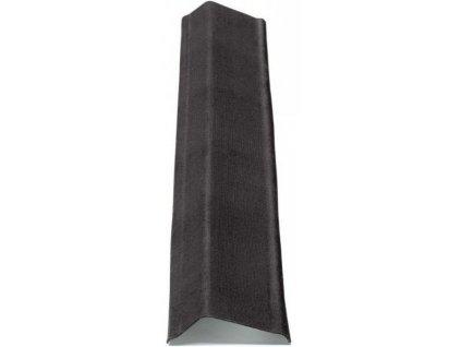 ŠTÍTOVÁ LIŠTA černá 1000 mm na bitumenové desky ONDULINE