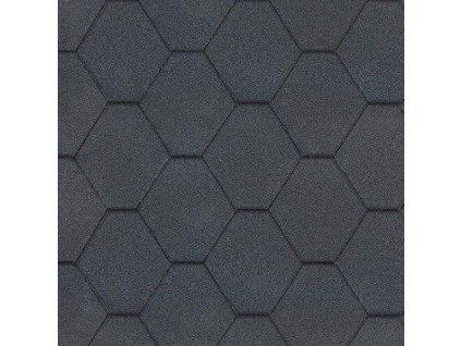 Střešní asfaltový šindel ROCK HEXAGONAL černý