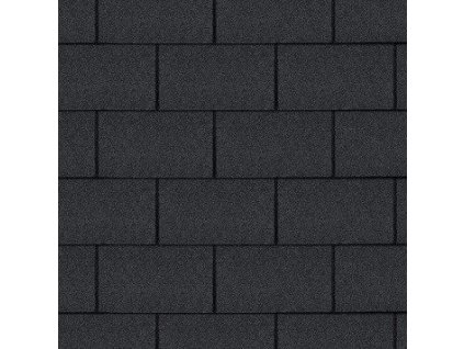 Střešní šindel asfaltový ROCK TRIO RECTANGULAR černá