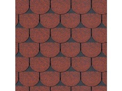 Střešní asfaltový šindel ROCK BOBROVKA PLUS červená
