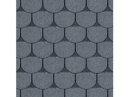 Střešní asfaltový šindel ROCK BOBROVKA PLUS šedá