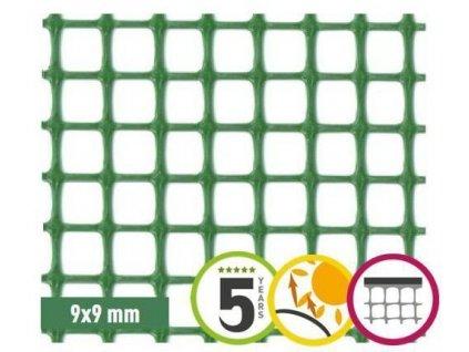 Plastová síť na plot 9 x 9 mm QUADRA 10 (1,2x5m)
