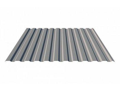 Omak Line Plechová fasádní krytina trapézový plech T14 0,5 Aluzinek