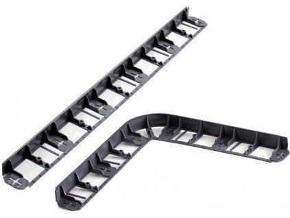 Neviditelný obrubník plastový černý 45 mm + kolíky zdarma