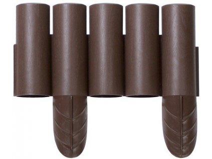 Zahradní palisáda Wood hnědá 15 cm / 2,4 m