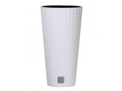 Plastové květináče Rato Tubus bílý Ø 20 cm