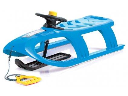 Dětské sáňky BULLET Control modré sáně plastové