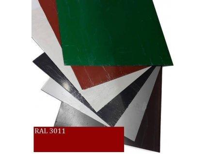 Rovinné plechy 0,5 tabule plechu 1,25 x 2 m RAL 3011 Blachotrapez