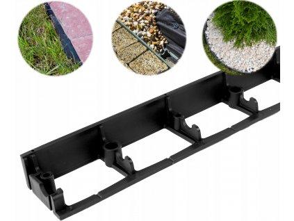 Neviditelný obrubník plastový SB 45 (1m) černý