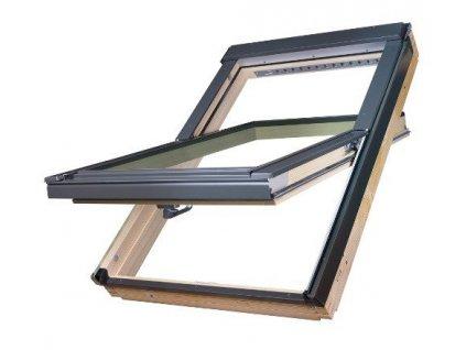 Střešní okno FAKRO dřevěné 66 x 118 cm FTP-V U5 trojsklo Thermo