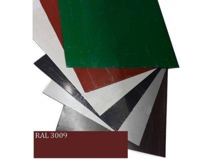 Rovinné plechy 0,5 tabule plechu 1,25 x 2 m RAL 3009 Blachotrapez