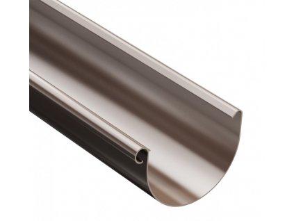 Plastový okapový žlab 125mm / 3m hnědý 8017 ProAqua