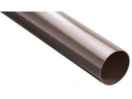 Plastový okap svodová roura 90mm / 3m hnědý 8017 ProAqua