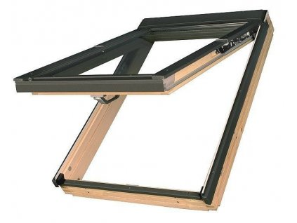 Střešní okno FAKRO dřevěné 66 x 98 cm FPP-V U5 preSelect trojsklo