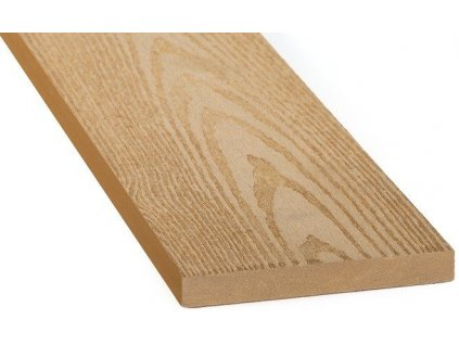 Dřevoplastové plotovky 120 x 15 x 1000 mm světlé hnědé dřevo