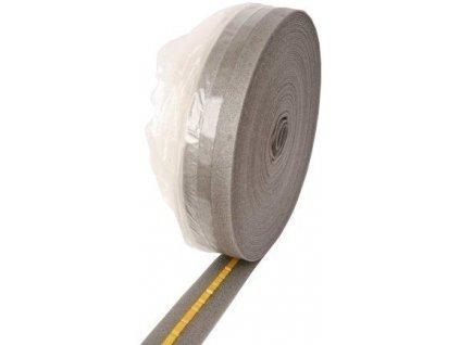 Dilatační pásek s fólií a samolepicí páskou 8 x 150 mm - role 50m