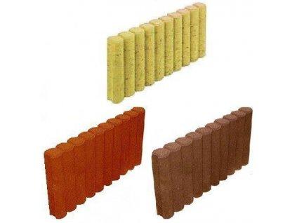 Palisáda obrubník betonový 50 x 6 x 30 cm HRONEK žlutý