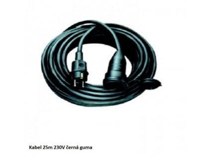 Prodlužovací kabel 25m 230V - černá guma