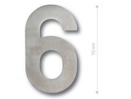 Čísla na dveře NEREZOVÉ 152 mm