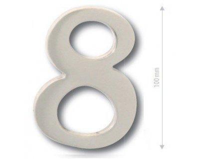 Číslice na dveře - NIKL MATNÝ